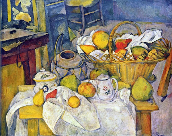 Still Life with Fruit Basket by Cezanne