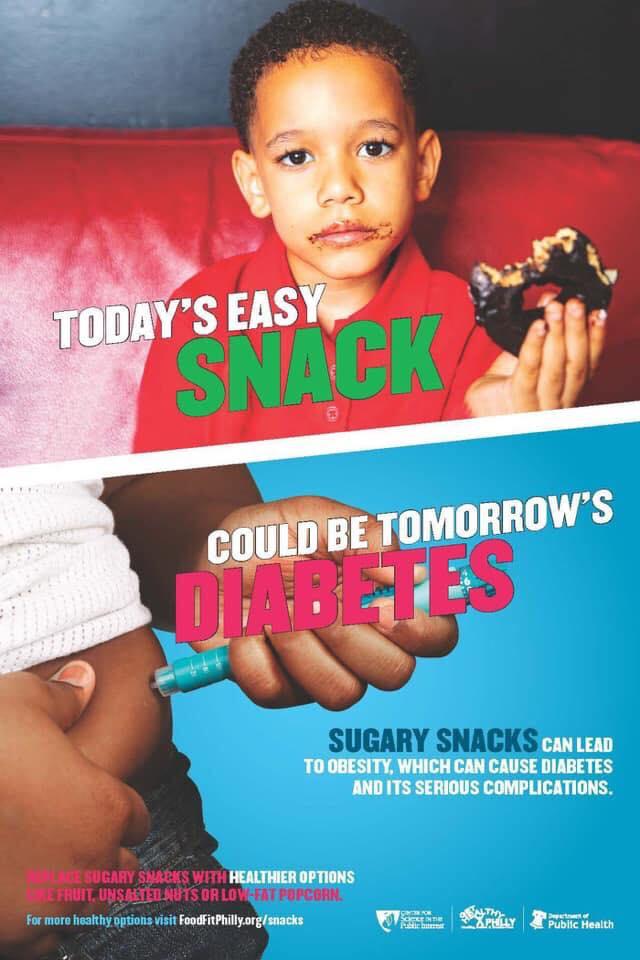 Το ποστερ της καμπάνιας I call the snacks που προκάλεσε αντιδράσεις στη Φιλαδέλφια